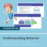 Understanding Behavior Preschool Staff Training