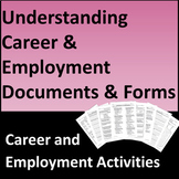 Understanding Career and Employment Documents & Forms Activities