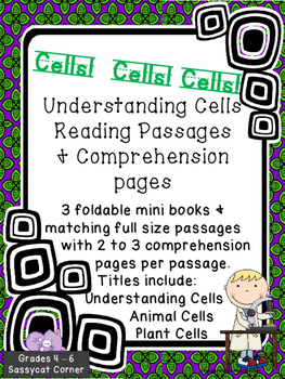 Understanding Cells Reading Passages, Mini Books, and Comprehension Pages