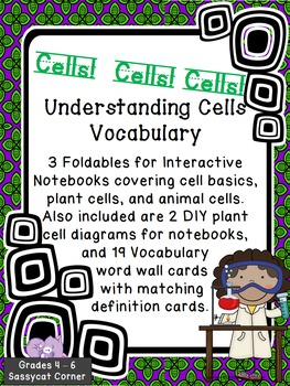 Understanding Cells Vocabulary Foldables for Interactive Science Notebooks