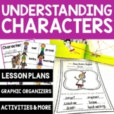 Understanding Character Traits Lesson Plan Charts Graphic Organizers