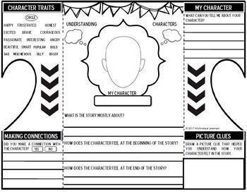 Understanding Characters Interactive Notebook Foldable