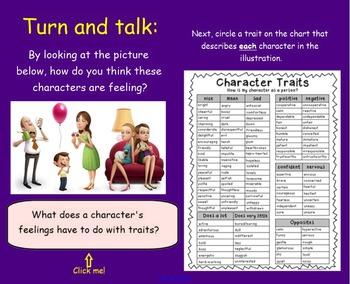 Understanding Characters SmartBoard Unit Plan 3rd Grade Standards Aligned