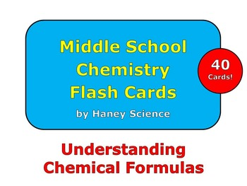 Understanding Chemical Formulas Flash Cards