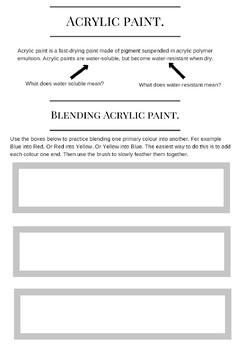 Understanding Colour Worksheet.