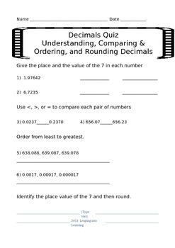 Understanding Decimal Assessments