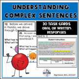 Understanding Complex Sentence: Dependent Clause Task Cards