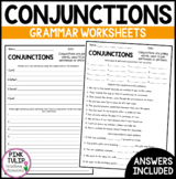 Understanding Conjunctions Worksheets - No Prep Printables