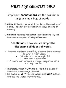 Understanding Connotations And The Power of Words