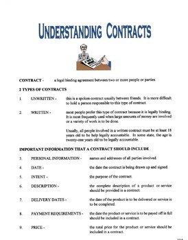 Understanding Contracts Lesson