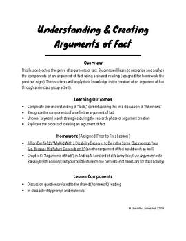 Understanding & Creating Arguments of Fact