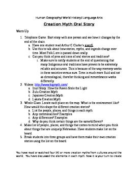 Understanding Cultures - Creation Myths
