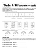 Understanding Data and Measurements Worksheet
