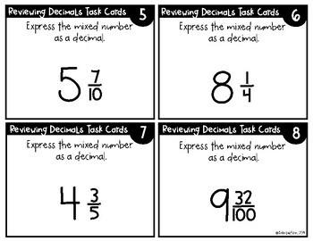 Understanding Decimals Review
