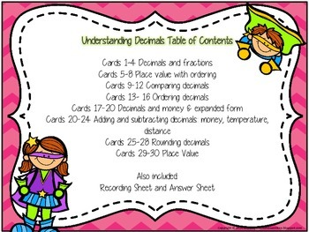 Understanding Decimals: Superhero theme!