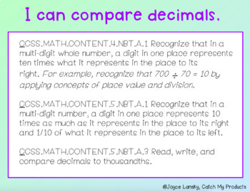 Understanding Decimals for Promethean Board (Comparing Decimal Values)
