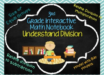 Understanding Division Interactive Math Notebook Alligned to GoMath 3rd grade