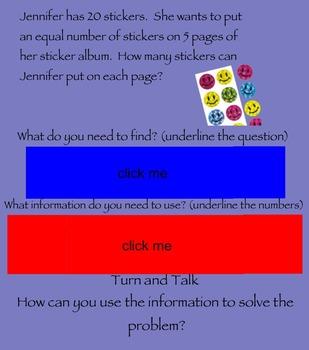 Understanding Division Smartboard activity-Go Math! 3rd grade