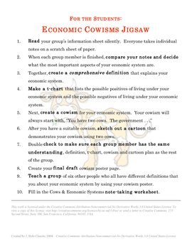 Understanding Economic Systems through Cowisms