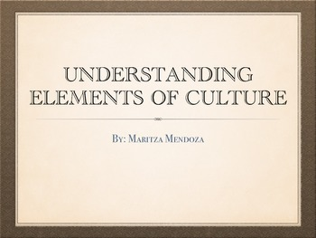 Understanding Elements of Culture
