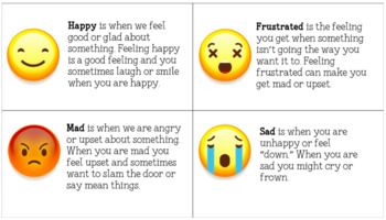 Understanding Emotions: Emoji Flashcard set