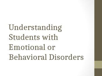 Understanding Emotional Disorders