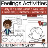 Feelings Awareness Activities: crafts, flashcards, mini-books, sentence frame