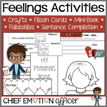 Feelings Awareness Activities: crafts, flashcards, mini-books, sentence frame