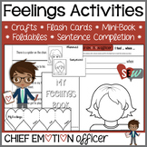 Feelings Awareness Activities: crafts, flashcards, mini-bo