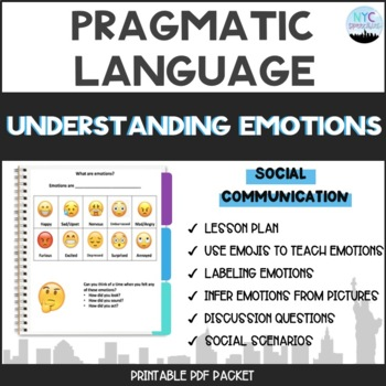 Understanding Emotions Unit Packet and Lesson Plan