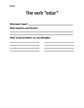 """Understanding """"Estar"""" in Spanish"""