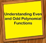 Understanding Even and Odd Polynomial Functions