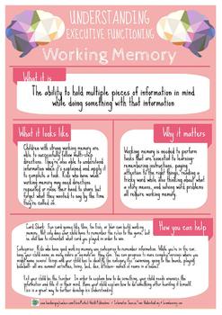 Understanding Executive Functioning: Working Memory