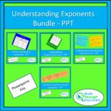 Algebra 1 - Understanding Exponents Bundle - PPT