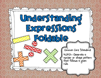 Understanding Expressions Foldable