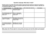 Understanding Figurative Language Princess and the Pea