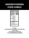 Understanding Food Labels - Handouts, Worksheets, PLUS Group Project