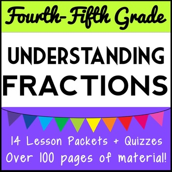Understanding Fraction Concepts Bundle: 11 Lesson Packets + 4 Fraction Games