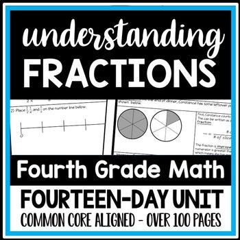 Understanding Fractions Bundle: 14 Lesson Packets, 4th Grade Fraction Unit