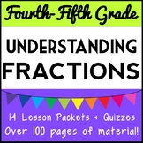 Understanding Fractions Bundle: 14 Lesson Packets, 4th - 5th Grade Fraction Unit
