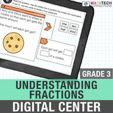 Understanding Fractions - 3rd Grade Math Center for Google Classroom