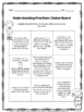 Understanding Fractions Choice Board