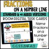 Understanding Fractions- Name Fractions on a Number Line Boom Cards