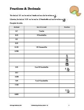 Understanding Fractions, Grades 7-10