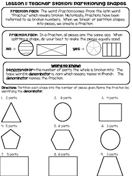 Understanding Fractions Guided Math