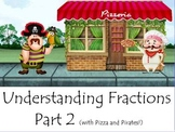 Understanding Fractions Part 2 (With Pizza and Pirates!) Activboard Smartboard
