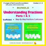 Understanding Fractions - Parts 1 & 2 Bundle! - Scaffolded Easy Fractions Study