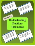 Understanding Fractions, Task Cards, Word Problems