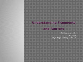Understanding Fragments and Run-ons PPT