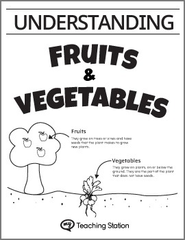 Understanding Fruits and Vegetables Worksheet Set